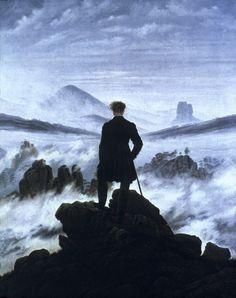 Wanderer Over the Mists (Wanderer Above the Sea of Fog) - Caspar David Friedrich, 1818