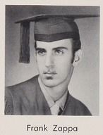 Frank Zappa, pioneering the soul patch at Antelope Valley High School (Lancaster, Pa.) 1958.