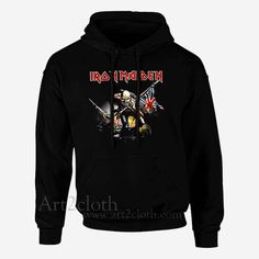 Iron Maiden The Trooper Unisex Hoodie ,Funny Hoodie ,Quotes Hoodie | art2cloth