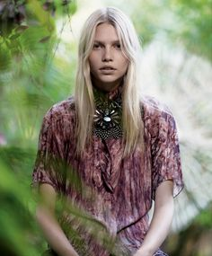 Aline Weber in flowy hippie gear from our 2008 Women's Fashion issue. Photograph by Mark Segal. Styled by Alister Mackie.