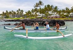 Guests can embark on an outrigger canoe adventure led by an experienced beach guide.