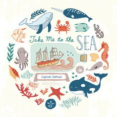 I enjoy drawing sea animals, ships, light houses and all other nautical related objects. There are so many possibilities with nautical art. I almost smelled the sea when I was creating this illustration.