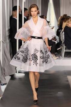 Dior Haute Couture Spring Summer 2012 – Look 1: Embroidered white silk coat. Discover more on www.dior.com
