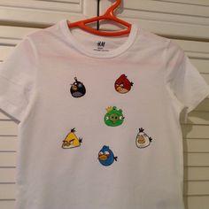 Camiseta infantil pintada a mano