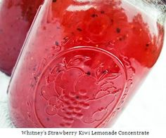 Easy Homesteading: Strawberry Kiwi Lemonade Concentrate Canning