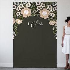 'Botanical Wreath Personalizable Photo Backdrops', on Minted.com