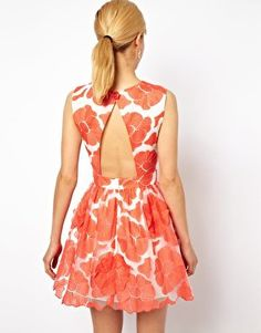 ASOS Embroidered Flowers dress