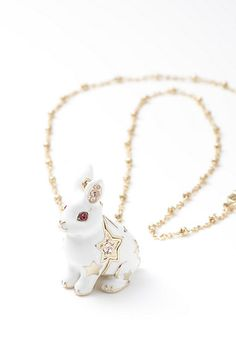 ANNA SUI bunny necklace