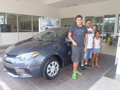 The Perez family next to their beautiful, new 2014 Corolla! Congratulations! Welcome to the #DavidMaus #Toyota family! #WhateverItTakes