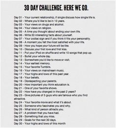 30 day challenge...REALLY want to do this!