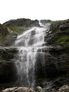 The Waterfall - Nærøyfjord, Norway by virtualwayfarer, via Flickr