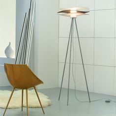 Featuring a sophisticated design, this Loop Floor Lamp by Florian will look perfect beside your sofa, study table, or bed. The frosted glass diffusers support its three irregular circular plates to form three-tiers. Red Plates, Modern Floor Lamps, Glass Diffuser, Frosted Glass, Red Gold, Chrome, Bulb, Flooring, Interior