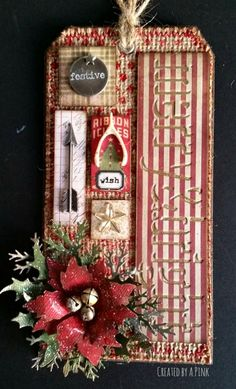 Hello Everyone and Welcome Here I am again today sharing yet another tag - this time its Tim Holtz 12 tags of 2016 - December. I'm runnin...