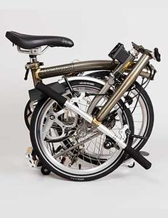The Brompton folding bike was conceived as a product to help improve city living. Photo: Matt Flynn © 2016 Cooper Hewitt, Smithsonian Design Museum.