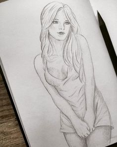 Sketch girl You are in the right place about drawing sketches alice in wonderland Here we offer you Pencil Drawings Of Girls, Pencil Sketch Drawing, Girl Drawing Sketches, Sexy Drawings, Girl Sketch, Easy Disney Drawings, Human Figure Drawing, Artist Sketchbook, Pencil Art Drawings