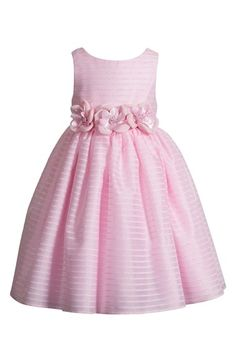 Free shipping and returns on Kleinfeld Pink 'Angelina' Sleeveless Dress (Toddler Girls) at Nordstrom.com. For the first time, the magic of Kleinfeld—the largest luxury bridal retailer on the planet—steps into the world of children's wear to make your little girls' dreams come true. Kleinfeld's rich history of special occasion dresses is a perfect starting point for the pintsize Pink collection of holiday, flower girl and party styles.<br>The candy-pink Angelina dress begins with a classic…
