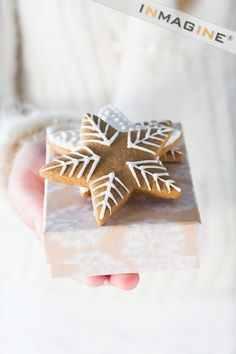 star gingerbread with white icing