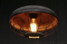 Vintage Industrial Pendant Lighting Upcycled Chicken by LightLady