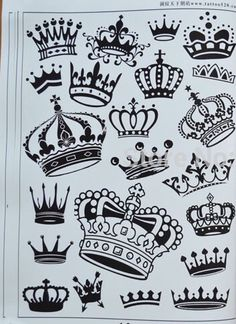 Crowns to add on to your cute tattoos! Finger Tattoos, Body Art Tattoos, Hand Tattoos, Sleeve Tattoos, Garter Tattoos, Rosary Tattoos, Crown Tattoos, Bracelet Tattoos, Key Tattoos