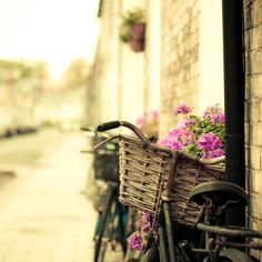 There are always places with bikes and flowers that give you a strong flavor of simple life