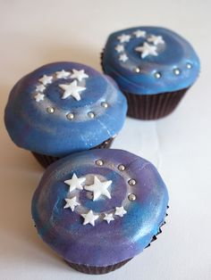 Blue Forth of July Cupcakes
