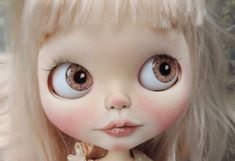 Blythe Middie and Pullip Doll Eyes Realistic Resin Chips in Hazel