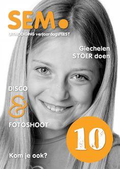 Design Invitation / Uitnodiging Kinderfeestje - eigen foto - by OTTI. Verkrijgbaar bij Kaartje2Go.