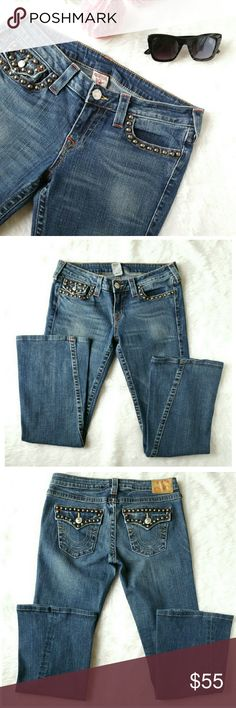 "Womens True Religion Jeans Flare Leg Very nice jeans by True Religion. 99% cotton 1% spandex. Inseam 30"" waist 37"" True Religion Jeans Flare & Wide Leg"