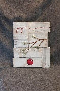 Rustic Christmas decor Christmas Joy Pallet art Farmhouse