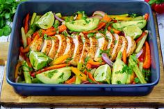 One Tray Chicken Fajitas | Clean Food Crush