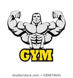 Logos Gym, Gym Logo, Huge Biceps, Mexican Wrestler, Powerlifting, Bodybuilder, Furry Art, Nye, Outline
