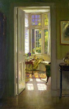 Patrick William Adam(Scottish, 1854-1929) -Interior, Morning.Oil on canvas.