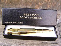 Best Man Gift. 50 Caliber Bullet Bottle Opener by BottleBreacher, $30.00