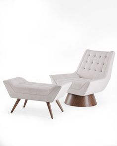"""Whitaker"" Chair & Ottoman by Jonathan Adler at Horchow."