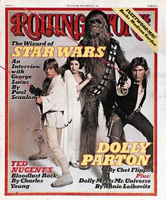 1977> RS246: Star Wars: Carrie Fisher, Harrison Ford, Ma Photo - 1977 Rolling Stone Covers | Rolling Stone