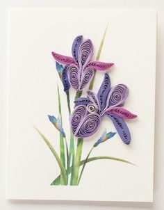 Inspiration for a Quilled card.