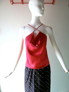 70s peonie pink silk top by Howard Wolf Dallas by CoolVintageFinds, $52.50