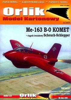 M1:33, Журнал Orlik - 019 - Истребитель-перехватчик Messerschmitt Me.163В-0 Komet из бумаги и картона