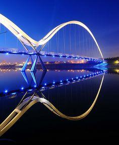 Infinity Bridge, Stockton-on-Tees, Northeast England