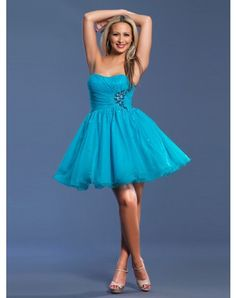 2012 Style A-line Sweetheart Beading Sleeveless Short / Mini Chiffon Cocktail Dresses / Homecoming Dresses (SZ0255482)