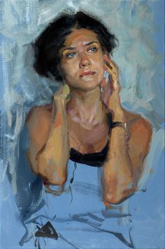 Evgeniy Monahov, oil on canvas {contemporary figurative art beautiful female torso woman cropped painting Painting People, Woman Painting, Figure Painting, Painting & Drawing, Modern Canvas Art, Portrait Art, Painting Portraits, Figurative Art, Traditional Art