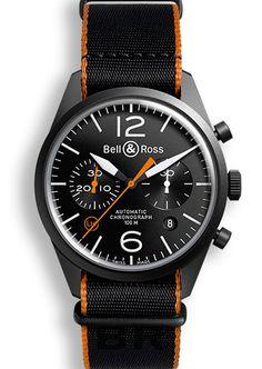 E-boutique - BR 126 CARBON ORANGE - Bell & Ross Official Site