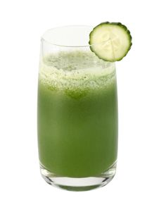 Happy Colon Tonic    1 green apple or pear  1 cucumber, peeled if not organic  1 lemon, peeled if not organic  1 handful spinach  1 handful parsley    Cut produce to fit your juicer's feed tube.  Juice ingredients and stir.  Pour into a glass and drink as soon as possible.    Serves 1-2