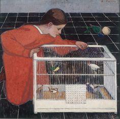Credit: Eisenberger Collection, Vienna Broncia Koller (1863-1934), Silvia Koller with a Bird Cage, 1907-08