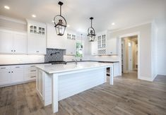 White kitchens are classic. They're bright, clean, & chic. But white doesn't have to equal borin. Southern Kitchens, White Kitchens, Gas And Electric, Interior Design Kitchen, Lighting, Chic, Decorating Ideas, House, Blog