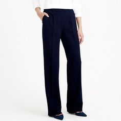 J.Crew - Collection wide-leg trouser - I want these, but not for $298. Come on! $298 for a pair of pants?!? Puh-lease.
