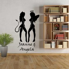 Devil & Angel wall art