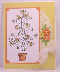 Tree for all seasons (Stamps by Judith) - To see more ideas and order Stamps by Judith & Heather go to www.stampsbyjudith.com