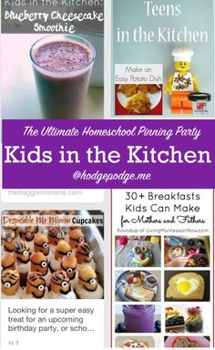 Kids in the Kitchen at The Ultimate Homeschool Pinning Party