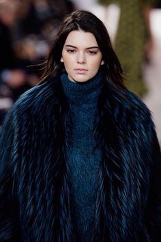 Kendall Jenner walking for Michael Kors Fall 2015 in New York